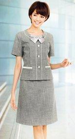 LS2740 BONMAX [リッシェ]Aラインスカート ツイード 36-LS2740