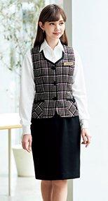 51410 en joie(アンジョア) スタイル良く美しいシルエットで快適着心地のタイトスカート 無地 93-51410