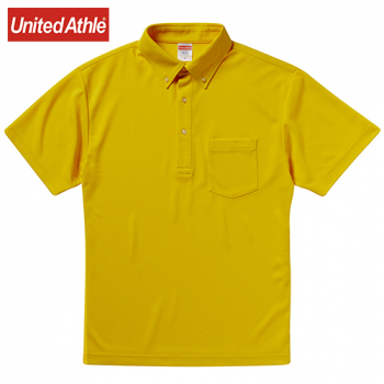 ドライアスレチックポロシャツ(ボタンダウン)(ポケット付)(4.1オンス)(男女兼用)