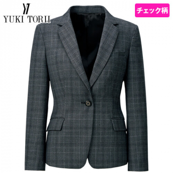 YT4918 ユキトリイ ジャケット チェック 40-YT4918