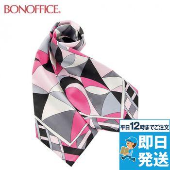 BA9136 BONMAX 都会的なパターンが魅力の正統派スカーフ