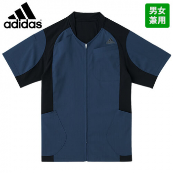 SMS120-10 15 18 アディダス ケーシージャケット(男女兼用) ポケット付き 脱ぎ着しやすい前開き