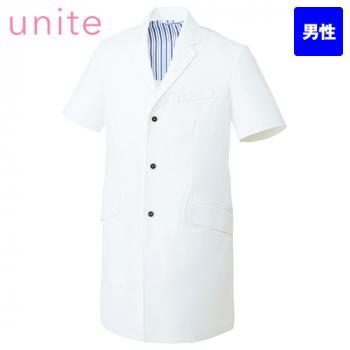 UN-0083 UNITE(ユナイト) 半袖ドクターコート(男性用)