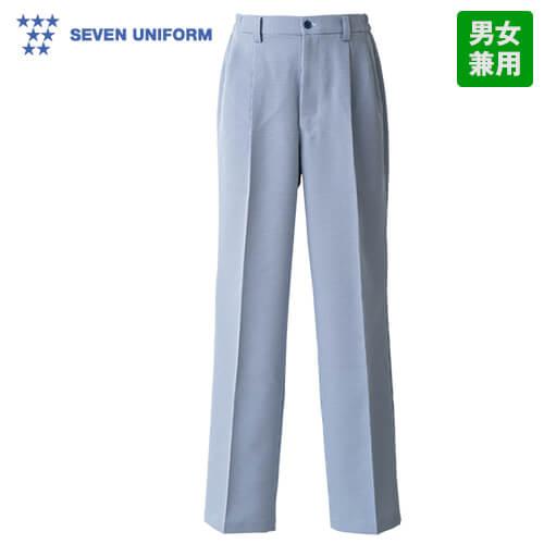 WL1471 セブンユニフォーム 脇ゴムツータックパンツ(男女兼用) 千鳥格子柄