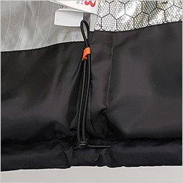 裾のサイズ調整が可能なウエストドローコード