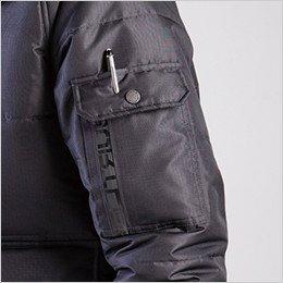 左袖 ペンさし付きポケット