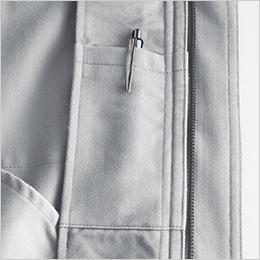 左胸 内ペンポケット