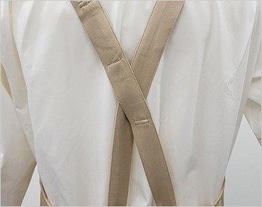 背中の紐がX型のバックスタイル