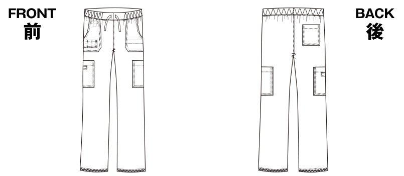 5017SC FOLK(フォーク)×Dickies カーゴパンツ 総ゴムのハンガーイラスト・線画