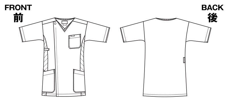 7025SC FOLK(フォーク) メンズ ジップスクラブのハンガーイラスト・線画