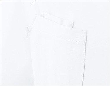 右胸にPHS専用ポケットと箱型ポケット