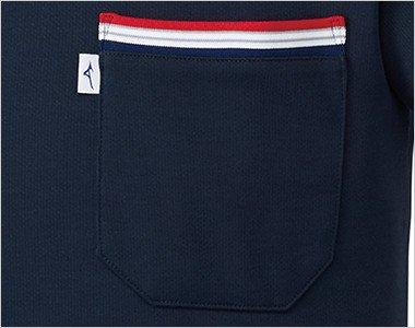 MIZUNOとランバードのロゴ、左胸の箱型ポケット