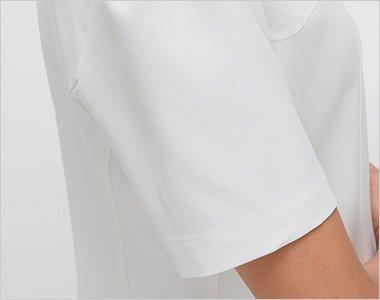 腕を細くみせてくれるすっきりした袖