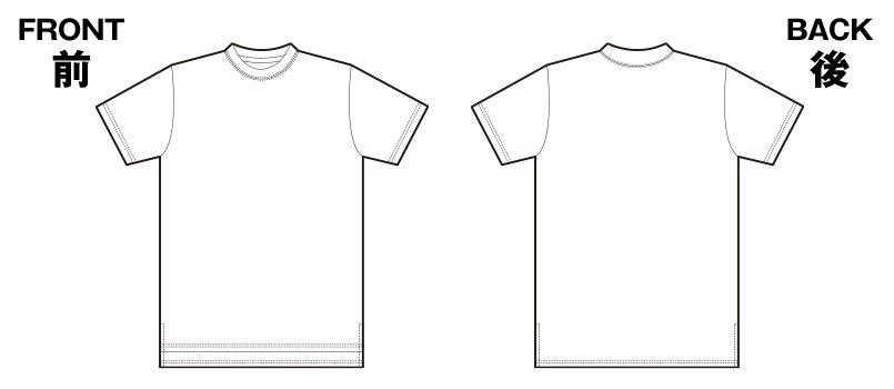 85-5009 ロングレングスTシャツ(5.6オンス)のハンガーイラスト・線画