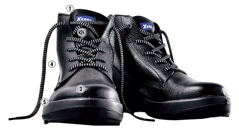 ジーベック 85022安全中編上靴 樹脂先芯(JIS T8101対応)のこだわりポイント