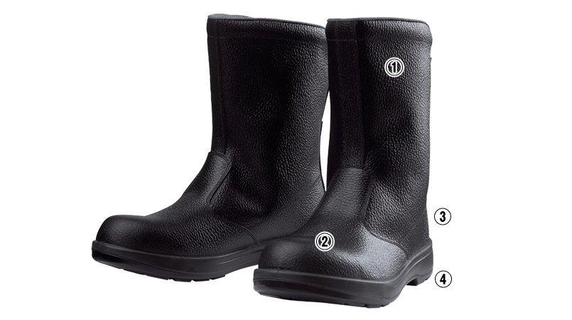 ジーベック 85024安全半長靴 樹脂先芯のこだわりポイント