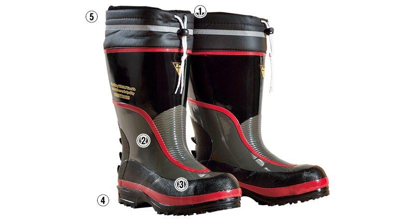 ジーベック 85705防寒安全長靴 スチール先芯のこだわりポイント