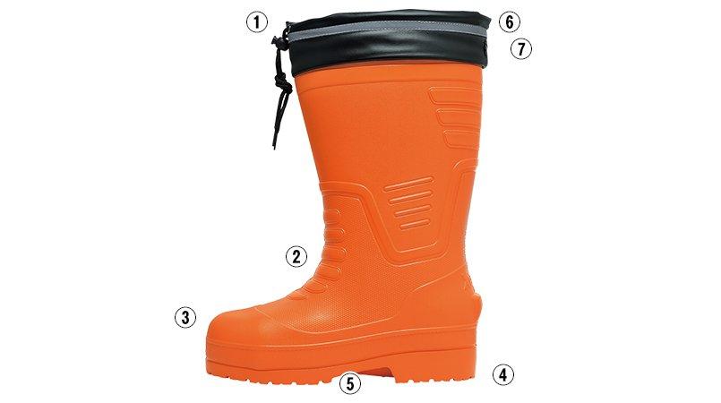 ジーベック 85712EVA軽量防寒長靴のこだわりポイント