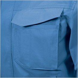 右胸収納マチ付きポケット