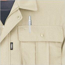 左胸ポケットはペン差し付き