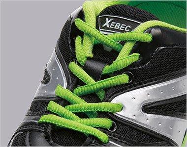 靴ひも収納後 結んだ靴ひもを簡単に収納でき、靴ひものひっかかりやゆるみを防止する「ひもポケ®」を装備。