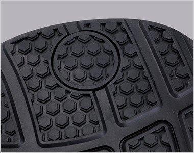 滑りにくいラバー素材をハニカム形状にして効率よく防滑性を高めています。
