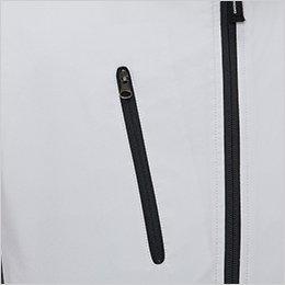 右胸 ファスナー付きポケット