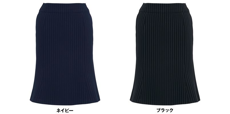 BONMAX AS2259 [通年]エクセラ マーメイドスカート ストライプ 2WAYストレッチ 色展開