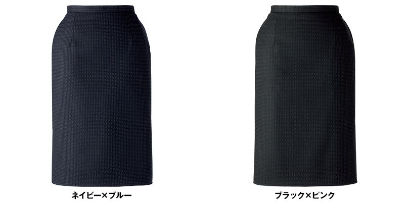 BONMAX LS2189 [通年]リブラ タイトスカート ドット 色展開