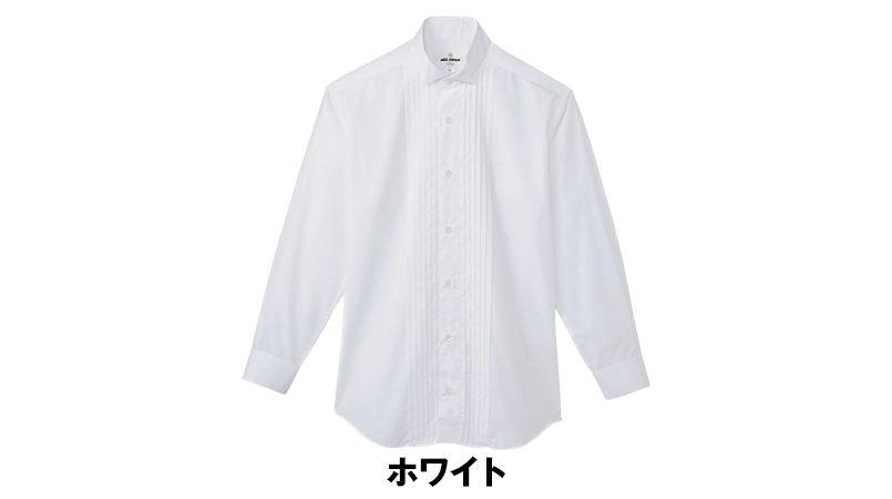 KM-4092 チトセ(アルベ) ピンタックウイングカラーシャツ(男性用) 色展開