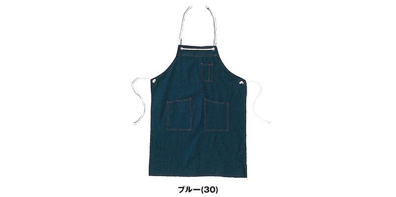 004 シンメン 胸当てデニムエプロン(ロープ式) 色展開
