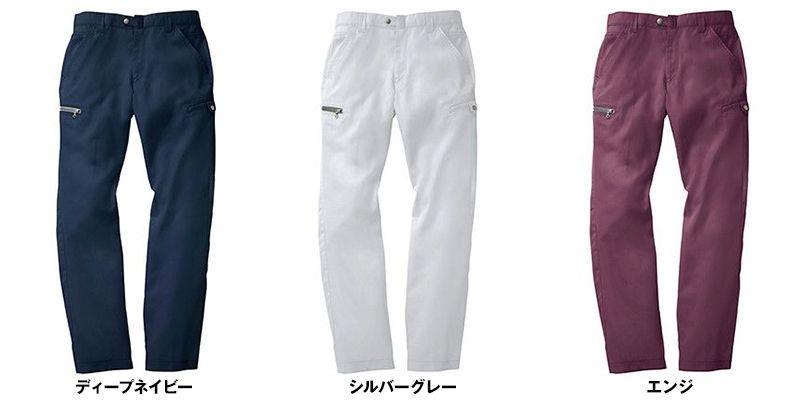 ジーベック 2196 [春夏用]現場服 高通気T/Cパナマ ノータック ラットズボン 色展開