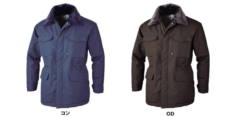 ジーベック 301 綿100%防寒コート 襟ボア ドカジャン 色展開