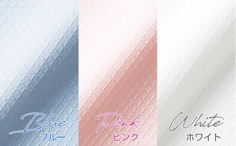 BONMAX RB4149 [通年]リサール繊細なダイヤ織りが美しい長袖ブラウス カラーUP