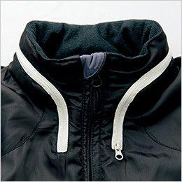 AZ10304 アイトス [秋冬用]タルテックス フードイン中綿ジャケット(男女兼用) スタンドカラー(フード収納時)