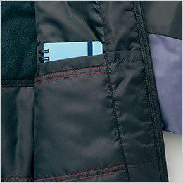 AZ10304 アイトス [秋冬用]タルテックス フードイン中綿ジャケット(男女兼用) 内ポケット