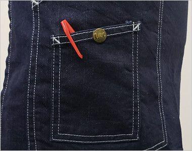 LCK79005 Lee ショートエプロン(男女兼用) 小さなポケットにはLeeオリジナルボタン
