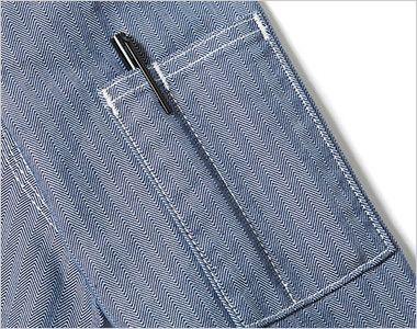 LWB06001 Lee ジップアップジャケット(男性用) ペン挿しポケット