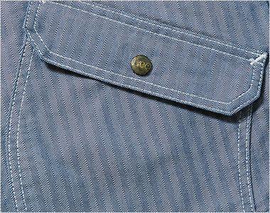 LWB06001 Lee ジップアップジャケット(男性用) 物が落ちにくいフラップ付きのポケット