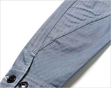 LWB06001 Lee ジップアップジャケット(男性用) 立体的な3枚袖仕様で、調節可能なボタン付き