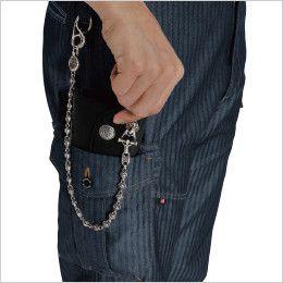 バートル 1502  [秋冬用]ヘリンボーン&T/Cソフトツイルカーゴパンツ(男女兼用) ラジポケ※出し入れ便利なポケットです
