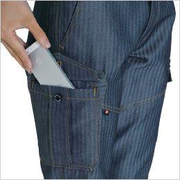 バートル 1509 [秋冬用]ヘリンボーン&T/Cソフトツイル レディースカーゴパンツ(女性用) Phone収納ポケット