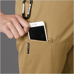 バートル 1703 T/Cソフトツイル ユニセックスパンツ(男女兼用)  Phone収納ポケット