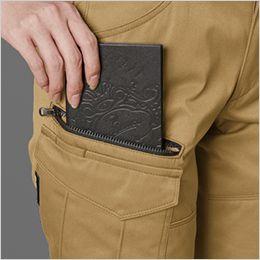 バートル 1709 T/Cソフトツイルレディースカーゴパンツ(女性用)  長財布・レベルブック収納ポケット(深さ23cm)