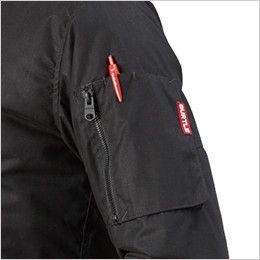バートル 5260 MA-1 フライト防寒ジャケット(男女兼用) ファスナ―ポケット(ペン差し付き)