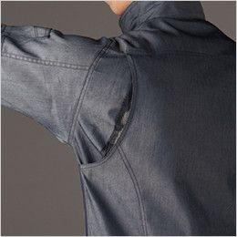 バートル 7041 [春夏用]ストレッチドビー長袖ジャケット(男女兼用) アームノーフォークメッシュ