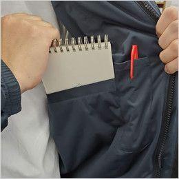 バートル 7410 [秋冬用]防風ストレッチ軽量防寒ブルゾン(男女兼用) 内ポケット