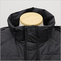 バートル 7510 [秋冬用]リップクロス防寒ジャケット(大型フード付)(男女兼用) 寒気の侵入を防ぐ二重前立て