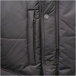 バートル 7510 [秋冬用]リップクロス防寒ジャケット(大型フード付)(男女兼用) ファスナーポケット付