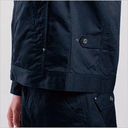 バートル 8101 綿100%ワーカーズツイル長袖ジャケット(男女兼用) ドットアジャスター(脇ゴムなし)
